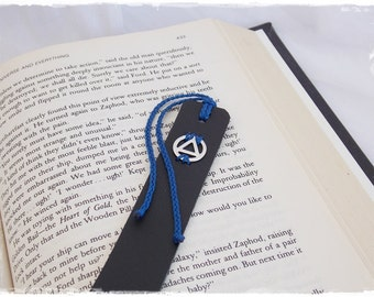 AA Bookmark, Sobriety Bookmark, Leather Recovery Bookmark, Leather Bookmark, Alcoholics Anonymous Bookmark, Serenity Bookmark, Recovery Gift