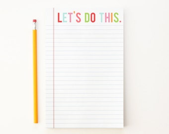 Notepad To Do List Girls Office Supplies School Supplies Cute Teacher Notepad Desk Pad Graduation Gifts Daily Motivation Checklist Note Pad