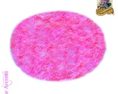 Classic Large Round Sheepskin Area Rug / Soft Luxury Faux Fur / Living Room / Kids Room / Dining Room / All New Large Sizes and Colors
