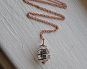 TIbetan Quartz (Double Terminated) Necklace - Healing Crystal Jewelry - Rose Gold Fill with 18 Inch Chain - Ecofriendly