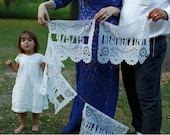 1 Alternating Wedding Banners - Includes Hand-Cut Name(s) and Message or Date - Papel Picado