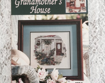 GRANDMOTHER'S HOUSE Counted Cross Stitch Book by Paula Vaughan, 12 Cross Stitch Designs, Leisure Arts Pattern Book # 3054