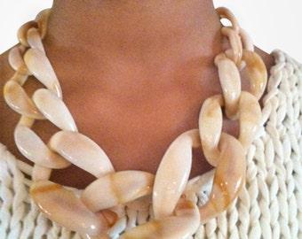 Chunky Link Necklace Butterscotch