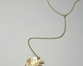 Hammered Arrowhead Lariat Necklace