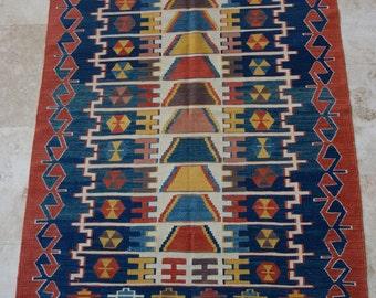 4 by 6 rug / Vintage Oushak Rug / Vintage Rug / Oushak Rug / Vintage Turkish Rug / Nomadic Rug / Area Rug / Boho Rug / Kilim Rug /Tribal Rug