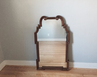 SALE! FREE SHIPPING! Vintage copper wall mirror, hanging wall mirror