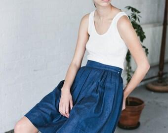 "SALE - Organic cotton Denim Skirt ""Verushka'"