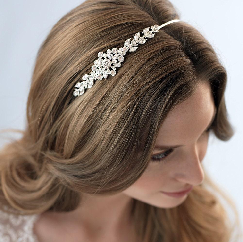 Wedding Hair With Rhinestone Headband : Rhinestone bridal headband hair accessory crystal