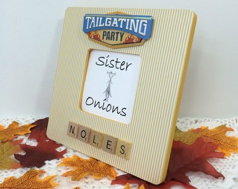 tailgating party picture frame florida state university fsu football party picture frame