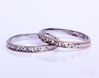 Sterling Silver Band Ring, Thin Band Ring, Stacking Rings, Rose Gold Band, Wedding Band, Knuckle Ring, Sterling Silver Stacking Rings | Jinx