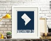 I love Washington DC, 11x14 or 8x10, customizable city, I heart pop art poster, digital art print, modern home decor state art