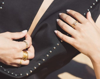 Unique bridal set, diamond engagement ring and matching wedding band, natural twig bark diamond ring, 14k gold diamond ring, solitaire ring