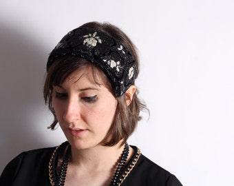 RARE 1920's Beaded Headband