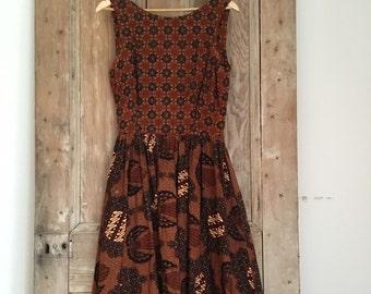 African print cotton dress