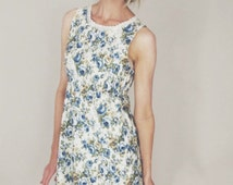 GRACE - Simple, floral, vintage style tea dress, relaxed, summer dress, vacation dress, festival dress, bohemian, relaxed