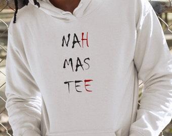 NAHMASTEE- NAMASTE Men's YOGA Meditation White Hoodie