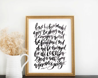 Scripture Print: Be Strong & Courageous