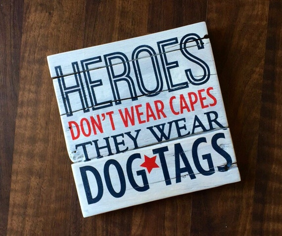 Americana Wall Decor Plaques Signs: American Patriotic Pallet Signs Heroes Don't Wear Capes