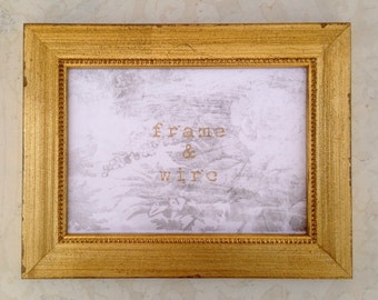 shabby chic vintage gold picture frame 4x4 4x6 5x7 8x8 8x10 - Wedding Picture Frames