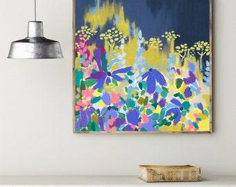 Pop Floral / Signed Flower Print