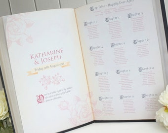 Fairy Tale Story Book Table Plan / Seating Plan