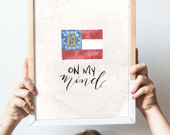 Georgia On My Mind Print // SALE
