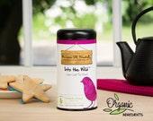 Organic Loose Leaf Herbal Tea Blend, INTO THE WILD, blueberry tea, elderberry, iced tea, organic tea gift