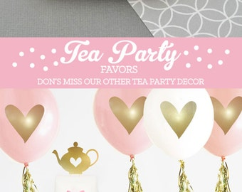 tea party favors tea party bridal shower girls tea party decor tea party baby shower