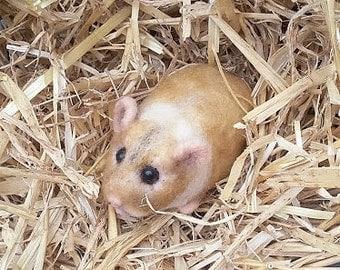 Lifesized Hamster needle felt/pet portrait/critter/rodent