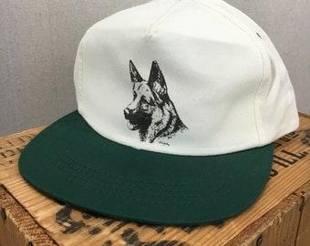 Vintage 90's German Shepherd GSD Snapback Hat