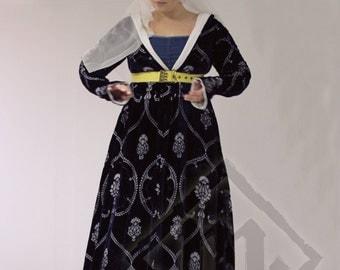 Uno de un tipo Medieval Borgoña vestido del estilo de finales del siglo XV (fue 799, ahora 599!!!)