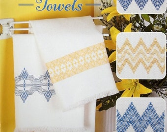 """Book """"Easy-Does-It""""  Swedish Weave Towel Designs Book by Katherine Kennedy Huck Embroidery  12 Beautiful Designs!"""