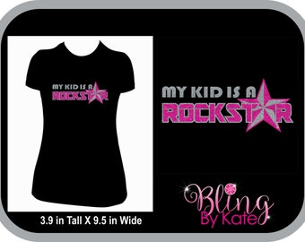 Rockstar Clothing - My kid is a Rock Star - Womens Two Color Glitter T Shirt