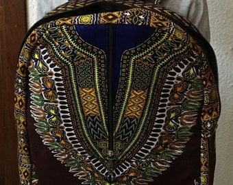 Dashiki Computer Backpack/ Dashiki Laptop Bag/