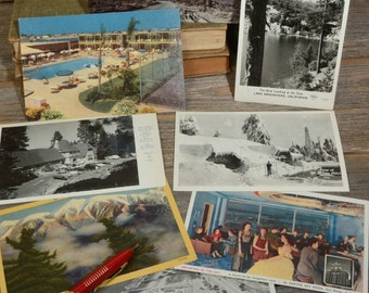 8 RETRO POST CARDS, Group of 8 California Post Cards from the 40's and 50's.