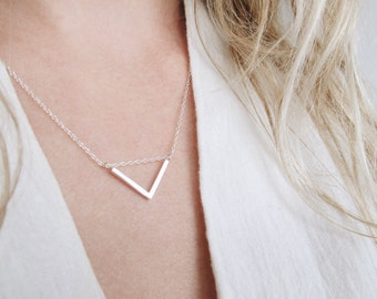 Geometric Triangle Necklace | Triangle Necklace | Minimalist Necklace | Sterling Silver Necklace | Geometric Jewelry Eco friendly Jewellery