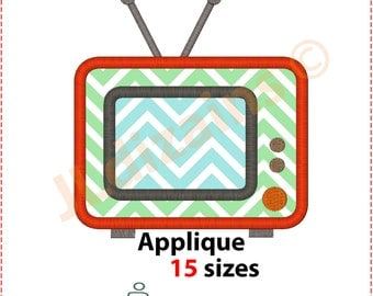 TV Applique Design. TV embroidery design. Embroidery design television. Applique television. Tv embroidery. Machine embroidery design