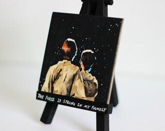 Luke and Leia Skywalker Canvas Print