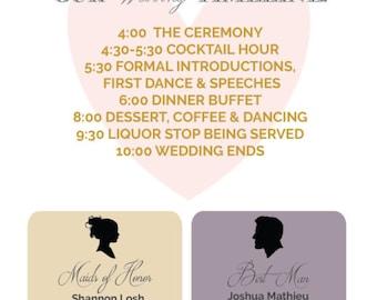 Wedding Program, Wedding Infogram, Infogram program, Best Day ever program, Best day ever wedding program
