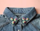 Spring Florals Collar Pins // Earrings // Hand Embroidery by İrem Yazici