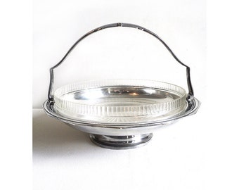French Silver Metal Basket Dish Bouillet Bourdelle