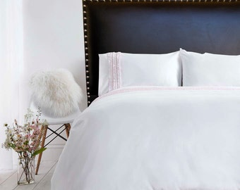 """Upholstered headboard """"Jayme"""" with nail trim, made to order"""