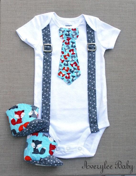 Fox Baby Boy Clothes Baby Boy Body Suit Foxes e Piece