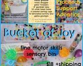 Bucket of Joy  Sensory Bin
