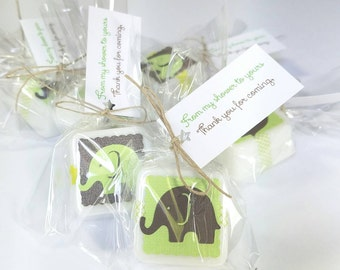 Elephant Baby Shower Favor - Unique Baby Shower Favors - boy baby shower favors - baby shower decorations