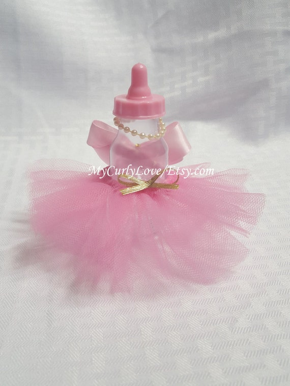 tutu baby shower bottle favors ballerina tutu baby shower favors pink