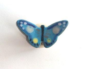 Blue Butterfly Knob