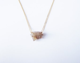 Pico Double Terminated Crystal necklace