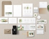 Marketing Set for Photographers - Business Cards - Pricing Guides - Price List Templates - Photography Branding - m0228