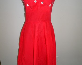 Red 1950's Sundress